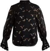 Chloé Paisley-jacquard chiffon blouse