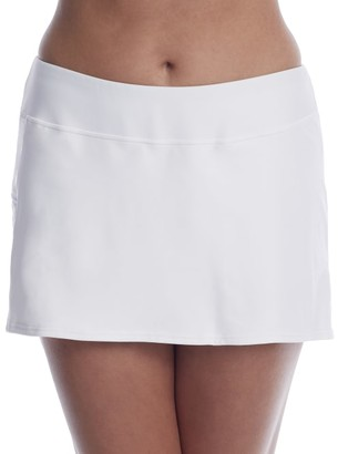 Sunsets White Lily Sporty Skirted Bikini Bottom