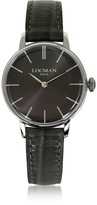 Locman 1960 Silver Stainless Steel Women's Watch w/Brown Python Embossed Leather Strap