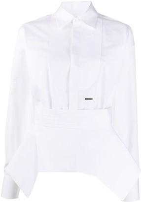 DSQUARED2 asymmetric peplum shirt
