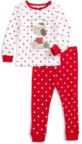 Little Me Infant Girl's Christmas Puppy Fitted Two-Piece Pajamas