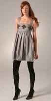 Karta Metallic Trapeze Dress
