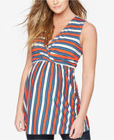 Rachel Zoe Maternity Striped Sleeveless Top