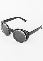 Missy Empire Brianna Black Cat Eye Flip Sunglasses