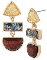 Kenneth Cole New York Geometric Stone Triple-Drop Statement Earrings