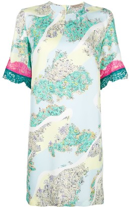 Emilio Pucci lace insert T-shirt dress