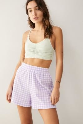Out From Under Gathered Crop Top - Grey M/L at Urban Outfitters