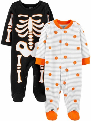 Simple Joys by Carter's Baby 2-Pack Halloween Snap Fleece Footed Sleep and Play