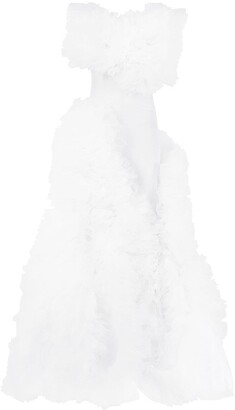 Loulou Ruffled Tulle Gown