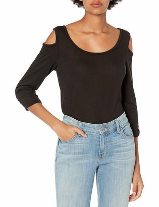 Star Vixen Women's Long Sleeve Cold Shoulder Super Soft Top