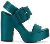Pedro Garcia Tilly platform sandals - women - Leather/Silk Satin/rubber - 36