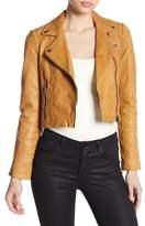 Liebeskind Berlin Cropped Leather Moto Jacket