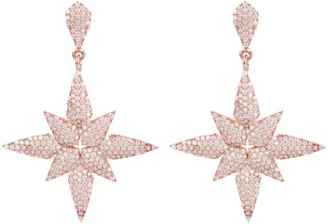 Latelita Star Flower Drop Earrings Rosegold