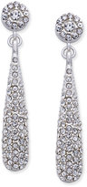 INC International Concepts Silver-Tone Teardrop Pavé Drop Earrings, Only at Macy's