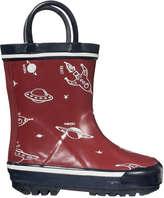 Joe Fresh Baby Boys' Print Rain Boots, Red (Size 4)