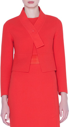 Akris Cara Short Wool Crepe Jacket