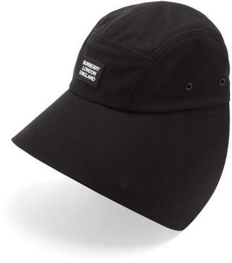 Burberry Logo-plaque Cotton Bonnet Hat - Black