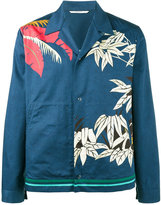 Valentino palm leaf print shirt - men - Cotton - 48