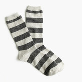 J.Crew Striped cashmere trouser sock