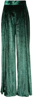 PatBO Liquid velvet wide leg trousers
