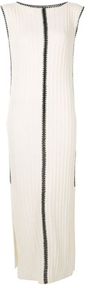 Jil Sander Contrast-Stitch Ribbed Dress