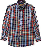 Roundtree & Yorke Gold Label Big & Tall Non-Iron Heather Plaid Sportshirt