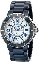 A Line a_line Women's 20040-NBWSR Marina Blue Ceramic Watch with Link Bracelet