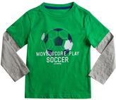 Chaps Toddler Boy Mock-Layered Long Sleeve Sports Graphic Tee