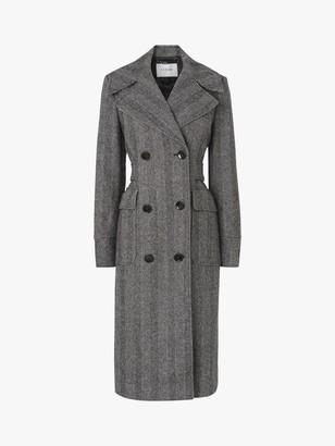 LK Bennett Aurelia Herringbone Trench Coat, Grey