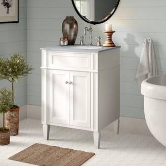 "Birch LaneTM Heritage Park Ave 24"" Single Bathroom Vanity Set Birch Lane Heritage Base Finish: White"
