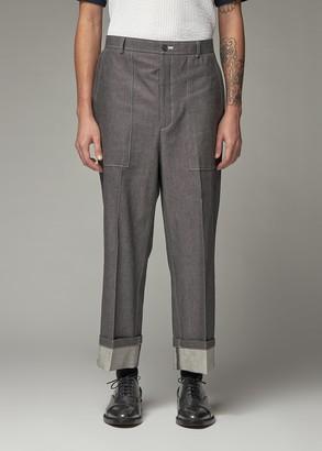 Thom Browne Men's Fold Up Straight Leg Denim Trouser Pants Size 1 100% Cotton