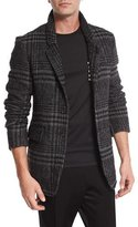 Burberry Large Check Two-Button Sport Coat, Pale Gray/Black
