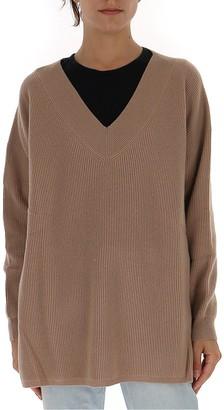 Max Mara Ribbed V-Neck Pullover