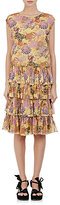 Dries Van Noten Women's Dines Tiered Cotton Drop-Waist Dress