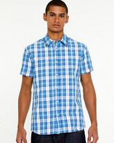 Le Château Check Print Short Sleeve Shirt