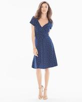 Soma Intimates Sweetheart Short Dress Confetti Navy/Powder Blue