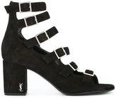 Saint Laurent 'Babies 90' multi-strap pumps - women - Leather/Calf Suede - 39