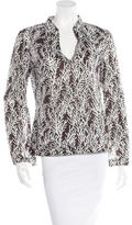 Tory Burch Embellished Printed Blouse