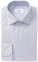Eton Print Contemporary Fit Dress Shirt