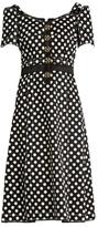 Dolce & Gabbana Polka-dot fitted cady dress