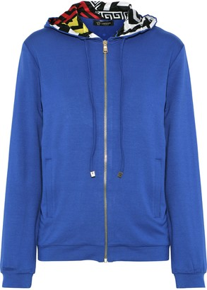 Versace Embellished Stretch-jersey Hoodie