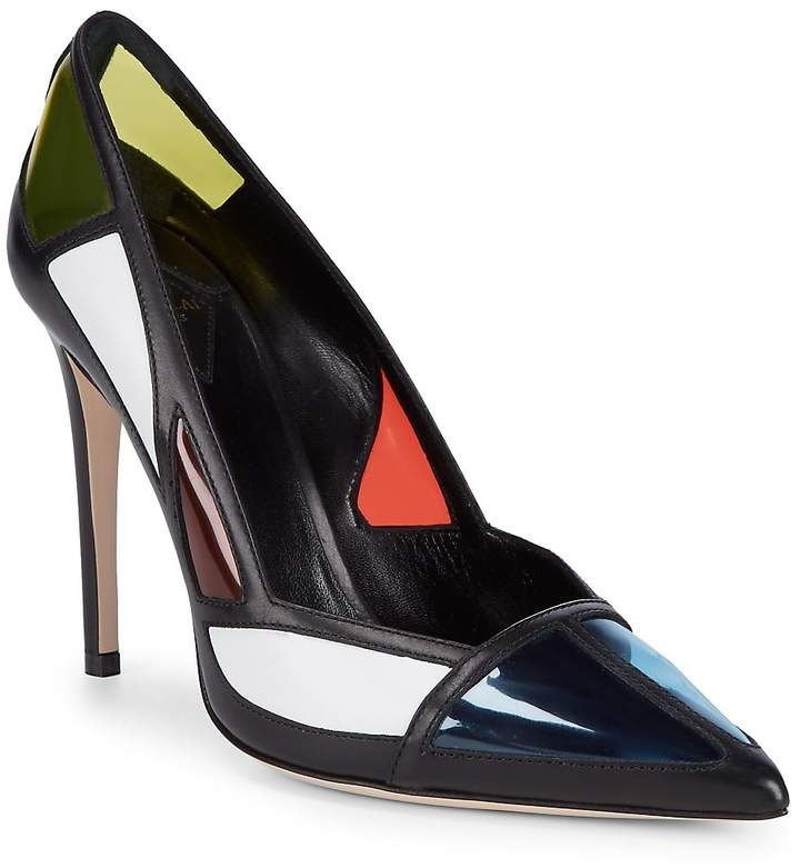 Aperlaï Women's Colorblock Stilleto Pumps
