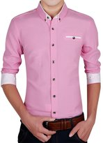 URBANFIND Men's Slim Fit Cotton Solid Dress Shirt
