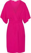 Issa Geri stretch-crepe wrap-effect dress