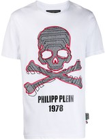 Philipp Plein embroidered skull T-shirt