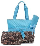 Handbags Quilted uflage Diaper Bag Baby Changing Pad Cosmetic Bag Turquoise Blue