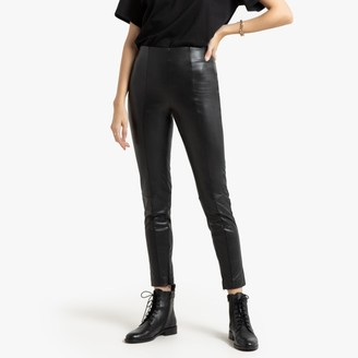 La Redoute Collections Faux Leather Leggings, Length 27.5""