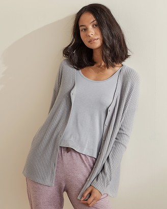 Express Upwest Tie Front Waffle Tee