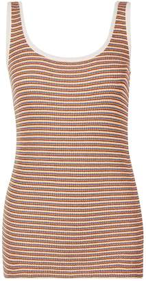 Dorothy Perkins Womens Gold Metallic Striped Vest, Gold