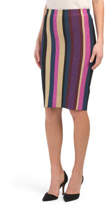 Veda Striped Sweater Skirt